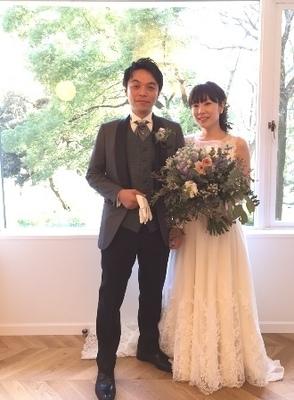 エンパイアドレス ナチュラルドレス 袖ありドレス ウエディングドレス東京福岡.JPG